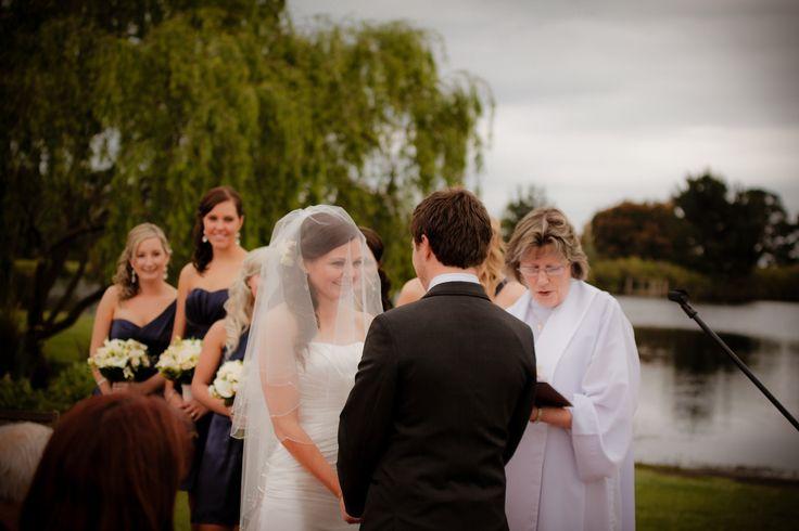ceremony by the lake! Weddings at Stillwater at Crittenden, Mornington Peninsula www.stillwateratcrittenden.com.au