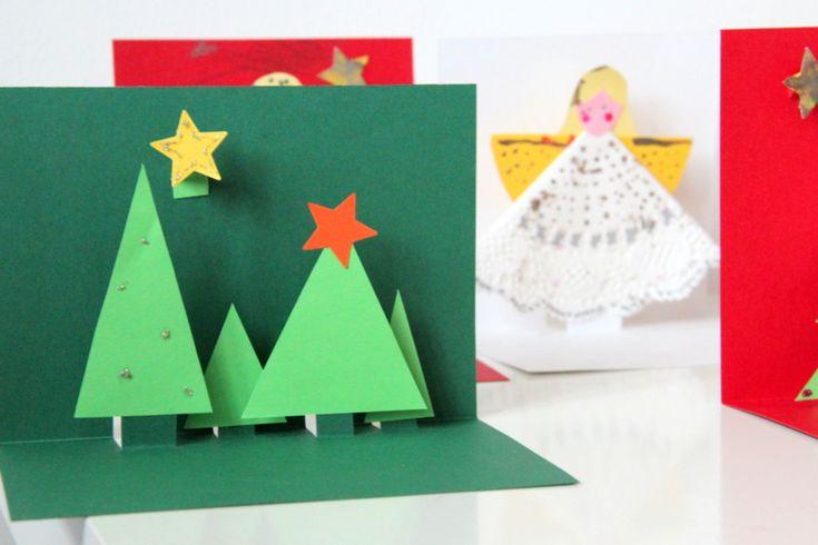 Selbstgemachte Weihnachtskarten in 3D