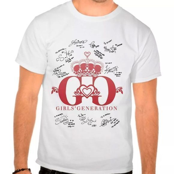 Camiseta Branca Kpop Girls Generation