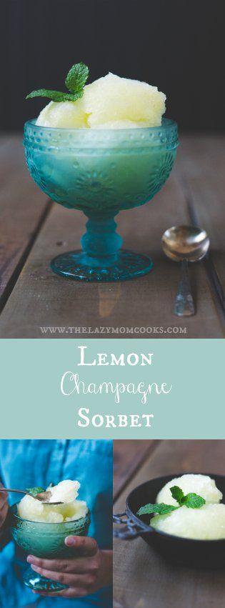 Lemon Champagne Sorbet