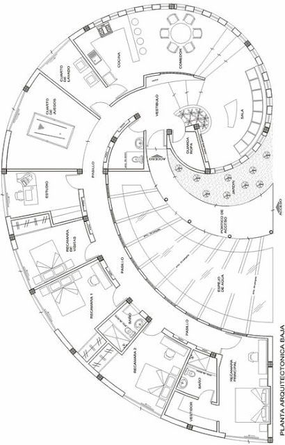 Snail house plan, it's in Spanish but you can figure it