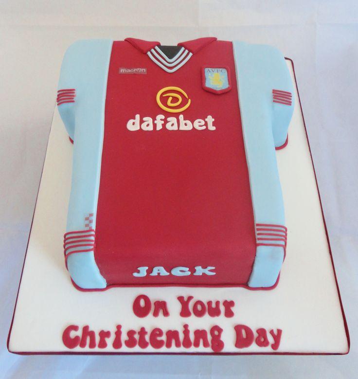aston villa football shirt cake