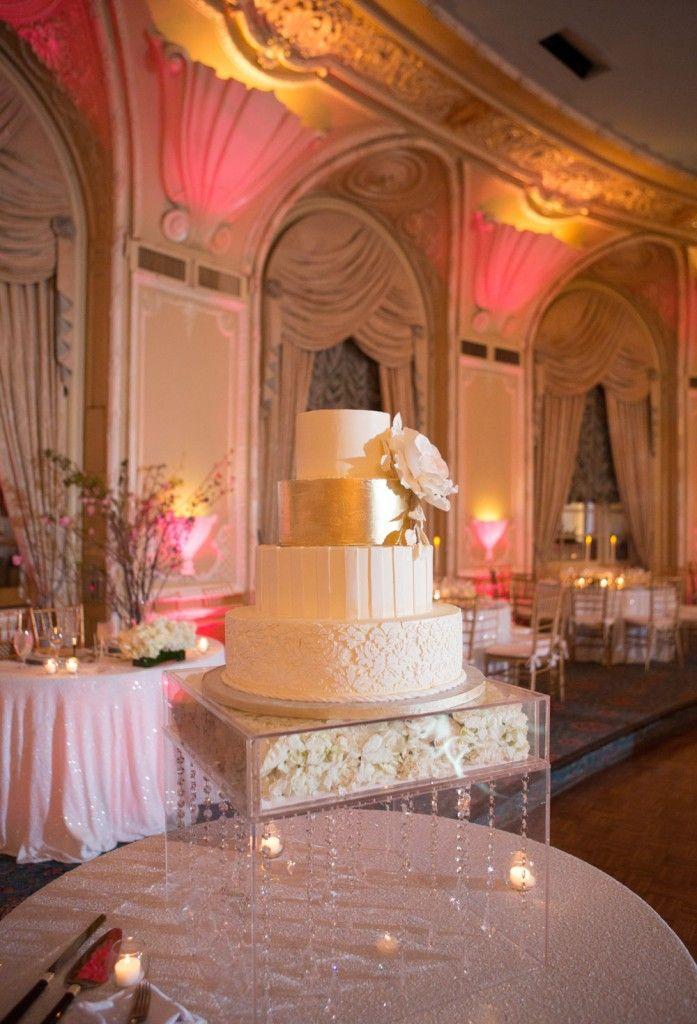 Wedding cake in the Oval room at the Fairmont Copley Plaza, Boston, MA. www.davidbarnesphotography.com