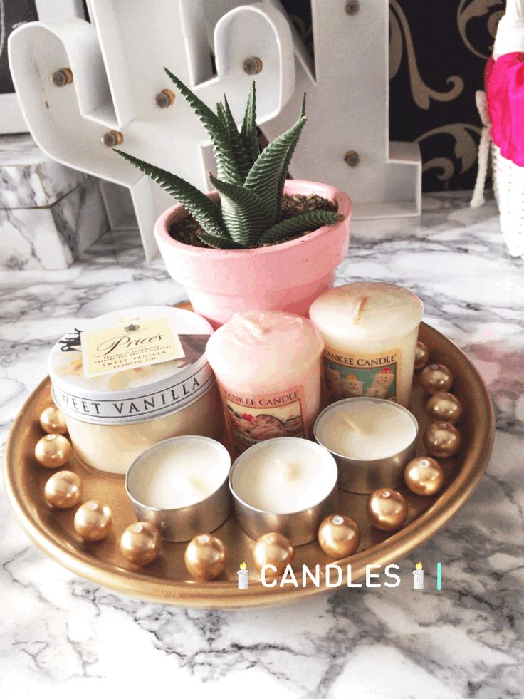 candles and cactus