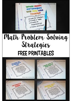 Math Problem Solving Strategies. These are more advanced math problem solving strategies. The examples work better for grades 5-5- Teaching to Inspire with Jennifer Findley