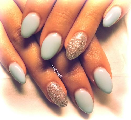 17 beste ideeën over Gelnagels op Pinterest ... Almond Shaped Nails Tumblr
