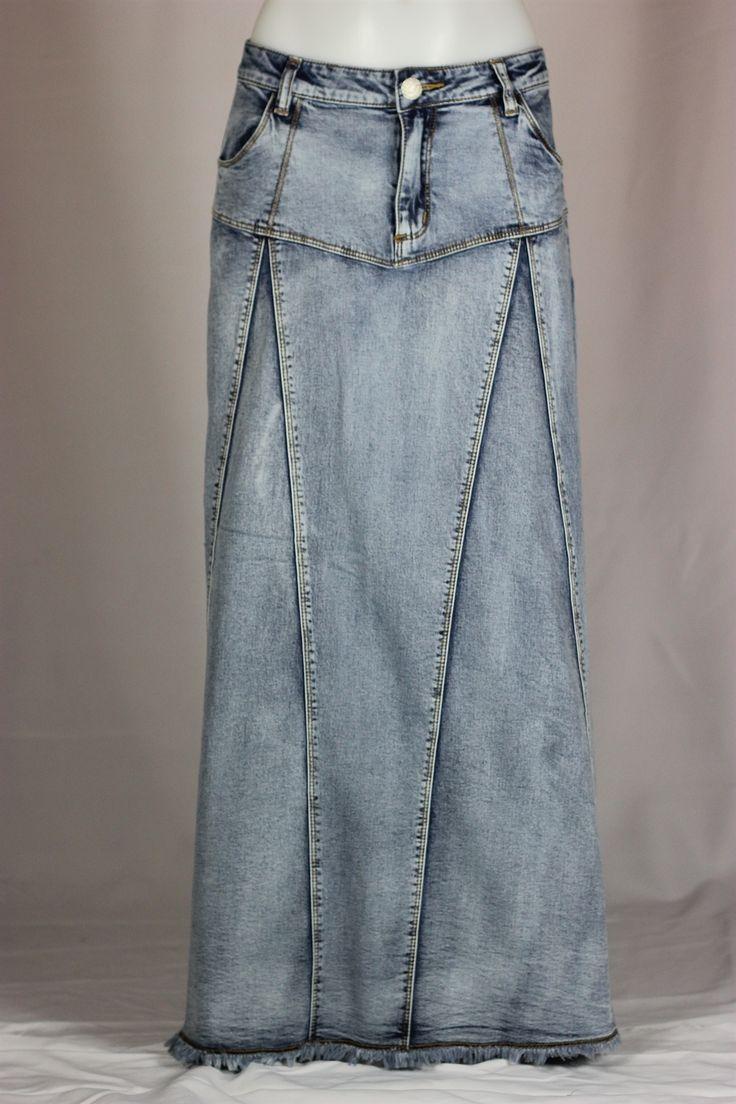 Spring Breeze Long Denim Skirt - $44