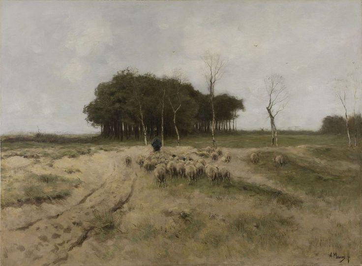 On the Heath near Laren, Anton Mauve, 1887