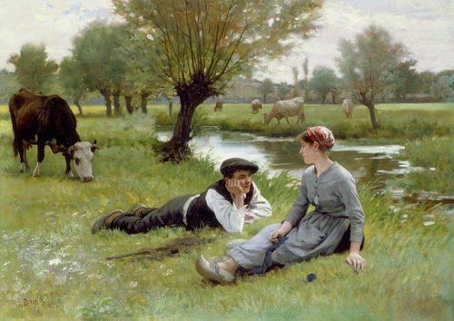 Le Flirt, 1896 by Edouard Debat-Ponsan