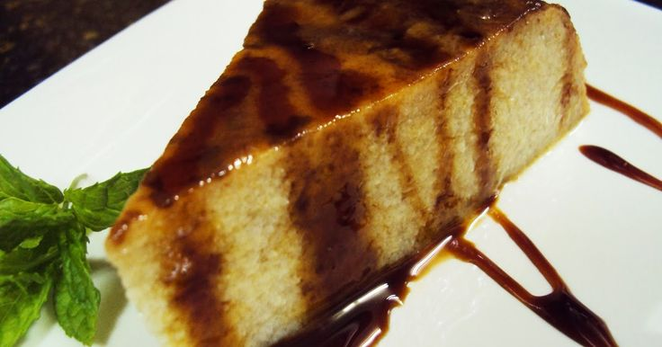 Receta sencilla y rápida de delicioso flan con plátanos. Ideal para aprovechar platanos maduros.