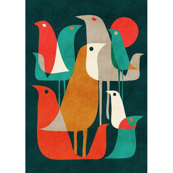 Flock of Birds print by Budi Kwan
