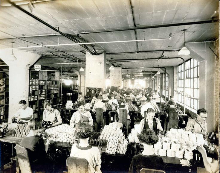 Emerson Electric coil winding department, ca. 1920s | Flickr
