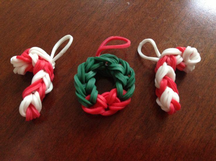 Rainbow loom Christmas charms