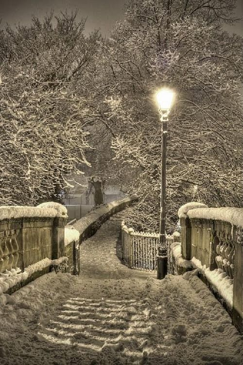 Snowy Night, Chester, England. Chester Walls in the snow by Mark Carline, via Flickr, the most complete Roman walls in the UK