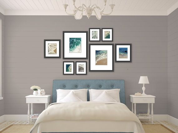 beach photography // modern nautical decor // ocean art print set // - set of eight beach prints (11x14 / 8x10 / 5x7)