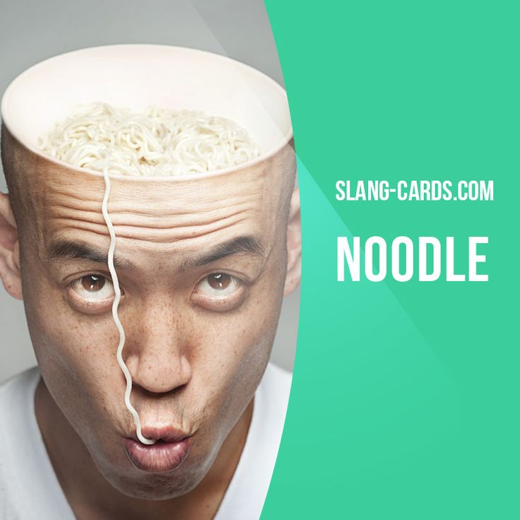 """""""Noodle"""" means brain. Example: You'll find the answer to the problem. Just use your noodle. Get our apps for learning English: learzing.com"""
