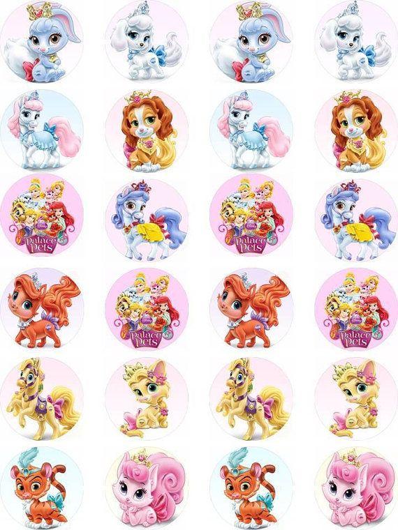 Disney Palace Pets Princesses Edible cupcake topper by cakesbytea