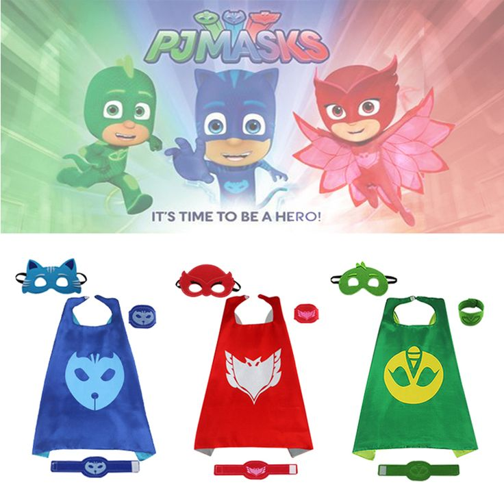 iMucci 70*70 PJ Cape Set Pajamas Masked Man Party Christmas Cloak Cosplay Birthday Costume Outdoor Activity Kids Children Capes