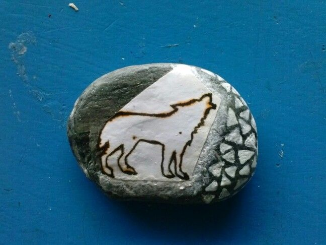 Pebble art.