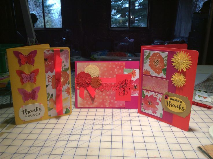 Administrative assistants week! Love the colors. Mixed paper, cardstock, stamps and embellishments