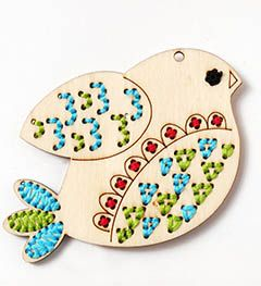 Bucilla ® Handmade Charlotte™ Wood Stitchables  Bird available online and Hobby Lobby.