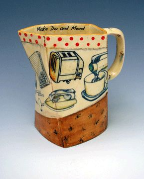 Kitchen technology celebrated in clay by Linda Gates, contemporary Brit potter