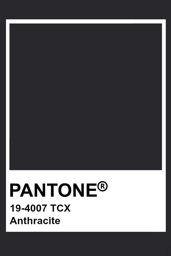 Pantone Anthracite Pantone Fashion Amp Home Tcx Colors In