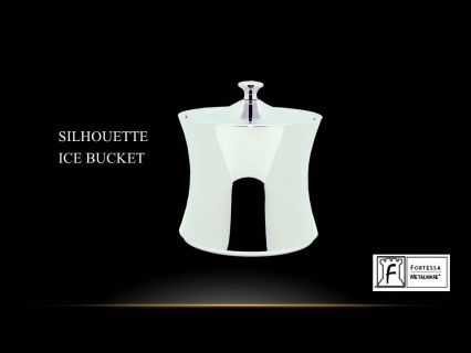 "Silhouette ice bucket with cover   8""(H) x 7""(W) Product Code 2.5.003.00.328  SHIPPING IN CANADA ONLY!"