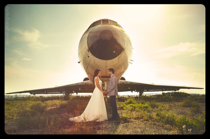 #professionalphotography #afterwedding #bride #groom #aeroplane