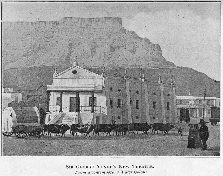 Cape Town's first theatre, from an undated Maskew Miller publication of Lady Anne Barnard's diaries