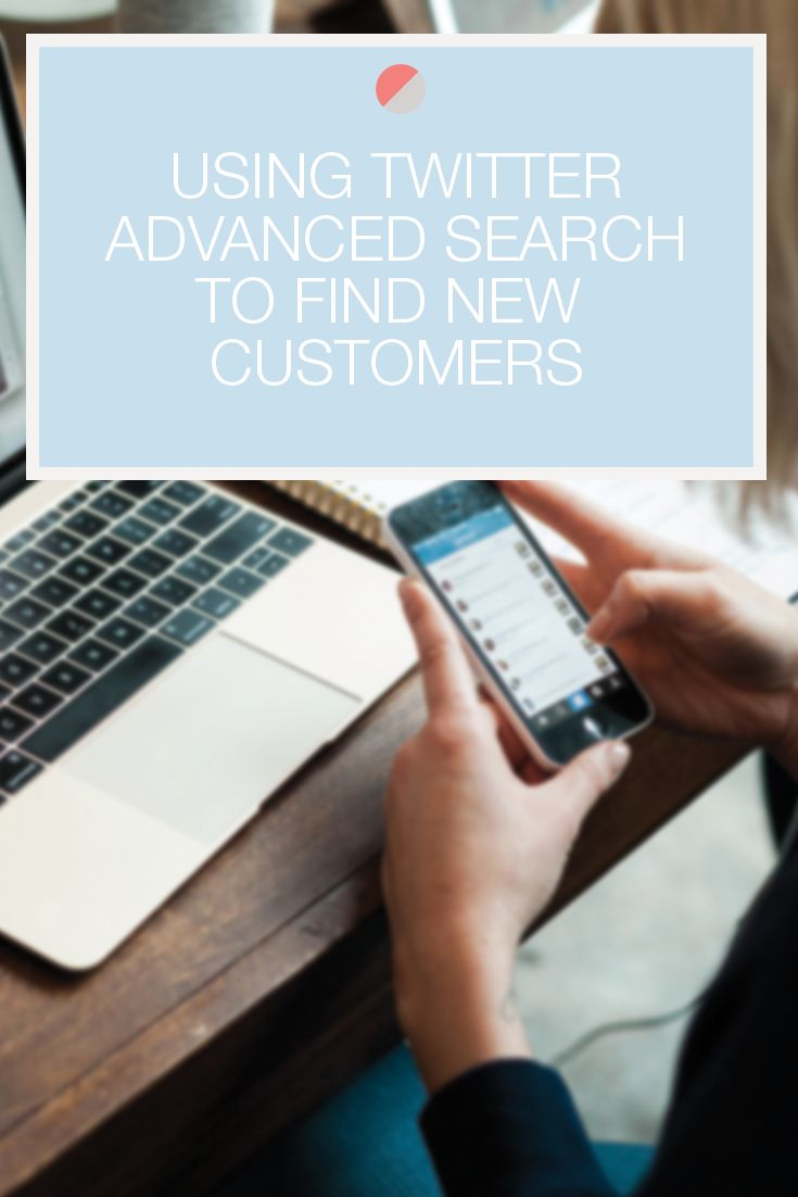 How to use Twitter's advanced search to find new customers. Great tip for entrepreneurs and small business owners to see who is talking about them, their brand, products, or services! Bloggers, this can work for you too! See who is tweeting about your blog posts! Click through to learn more.