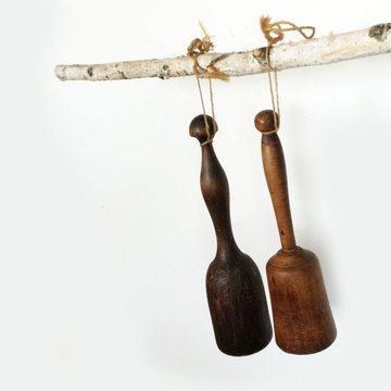 This set of vintage mashers makes for wonderful rustic farmhouse decor and is perfect for starting or adding to a collection. Good condition with great patina.