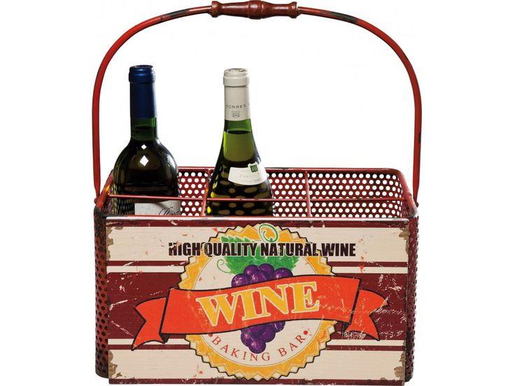 Koszyk na Wino Vintage — Stojaki na wino Kare Design — sfmeble.pl