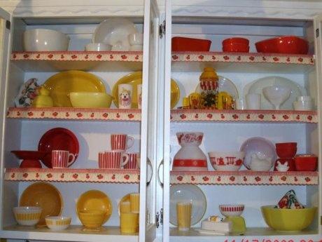 Vintage shelf edging seen on Retro Renovation