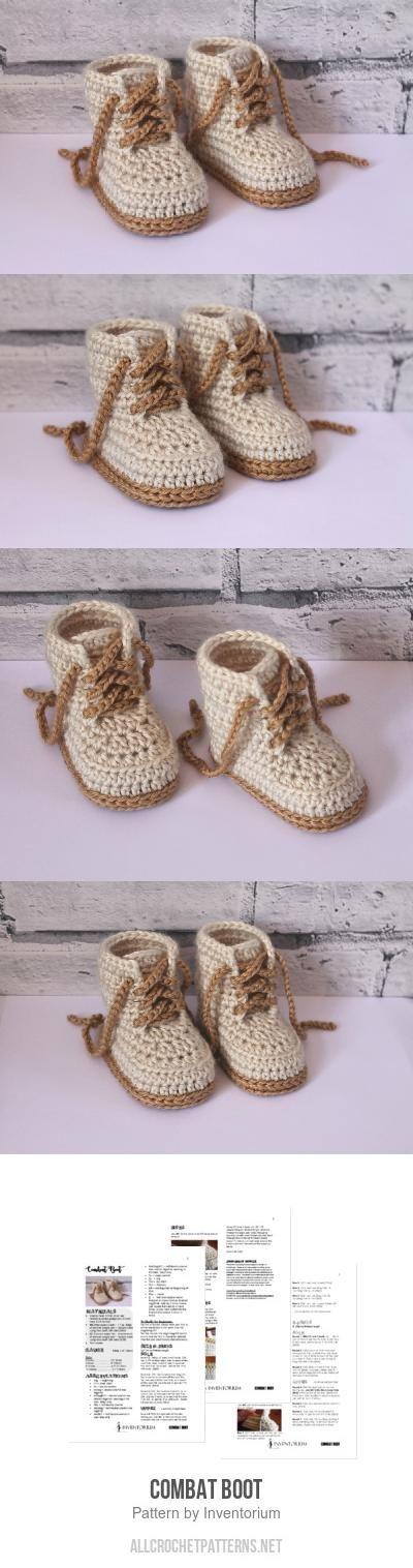 Combat Boot crochet pattern