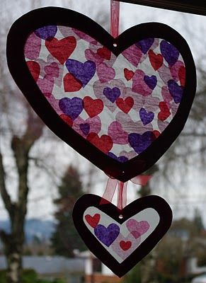 passengers on a little spaceship: stained glass valentine