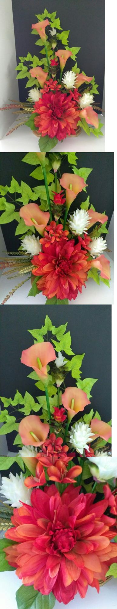 Floral D cor 4959: Tropical Silk Flower Floral Arrangement, Hotel Office Decor -> BUY IT NOW ONLY: $55.95 on eBay!