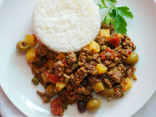 Cuban Picadillo: Concentrated saltiness and plump sweetness, which meld together seamlessly. #recipe
