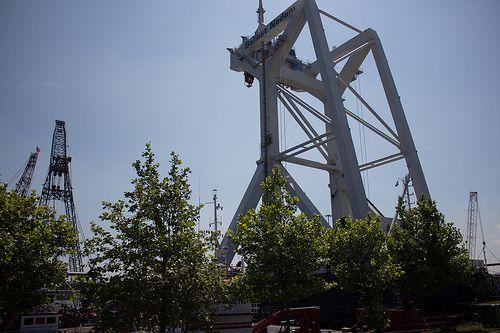 Container crane Wiltonhaven Rotterdam #Wiltonhaven #Rotterdam #Harbor #Dock #010 #Holland #Sky #Blue #Sunny #Architecture #Urban #City #World #Port #Netherlands #Roffa #Canon #700D #Photography