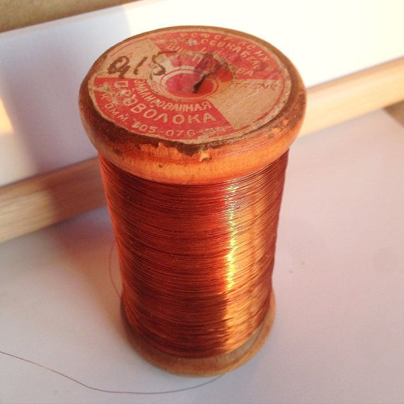 0.15 mm Thin Enamelled Copper Wire / Enameled by SovietHardware