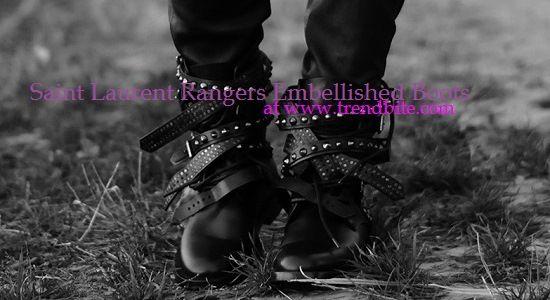 TrendBite: Saint Laurent Rangers Embellished Boots   Look for Less