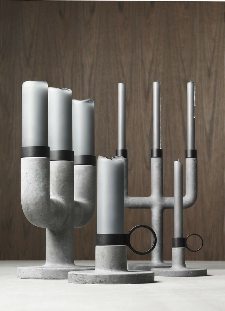 Weight Here Candleholder  - concrete