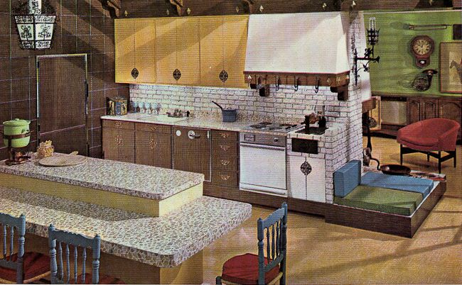 Decorating a 1960s kitchen -- 21 photos with even more ideas from 1962 kitchens - Retro Renovation