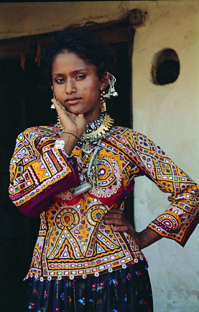 Vagadia Rabari woman in traditional dress