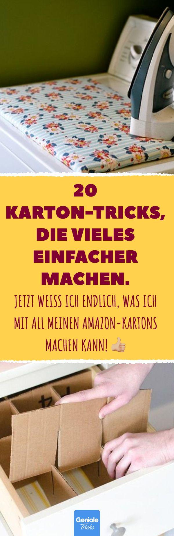 20 Karton-Tricks, die vieles einfacher machen. 20 …