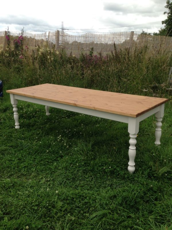 Rustic Pine Farmhouse table 8ft X 3ft