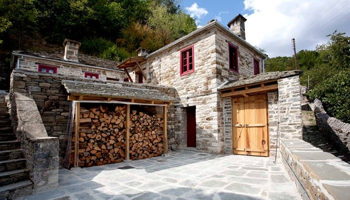 Provisions for winter in a traditional mountain house in Epirus, Greece