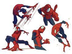 Grace Liu on Twitter Spiderman poses, Spiderman art