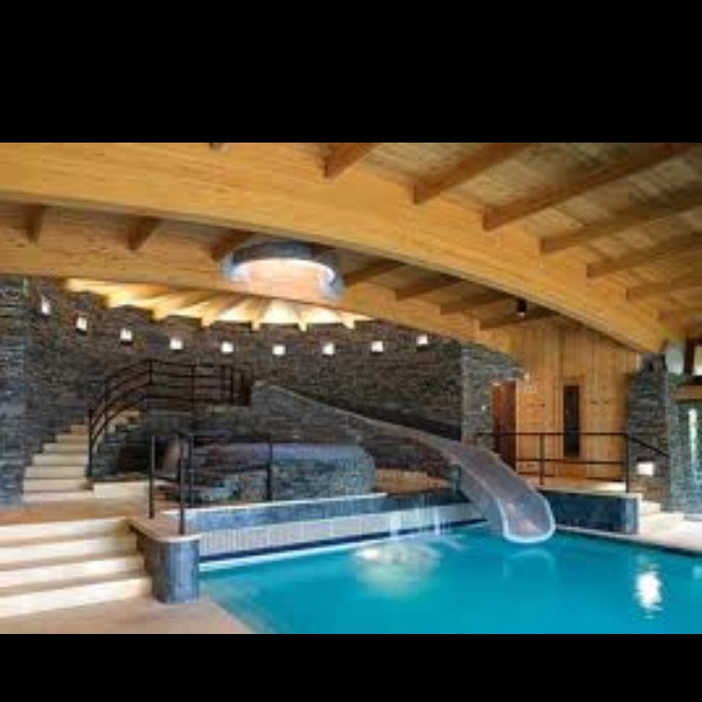 house pools with slides - House Pools With Slides