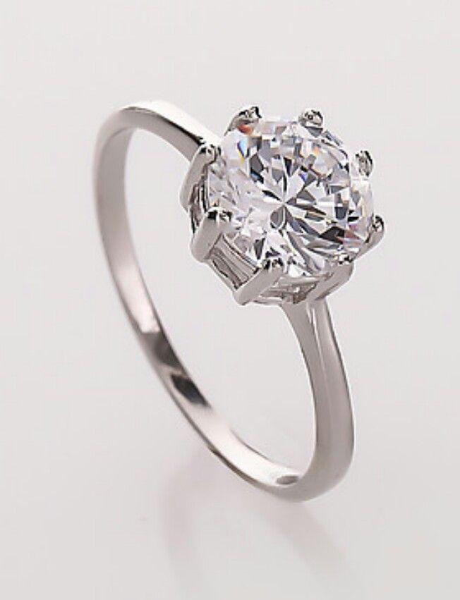 Diamantea anello solitario 118804 - Hse24.it